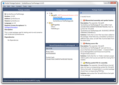 NuGet Package Explorer with the SymbolSource plugin